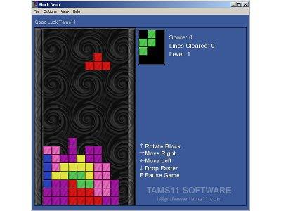 Tams11 Block Drop screenshot: block drop, tams11, tetris, download game, games, puzzle