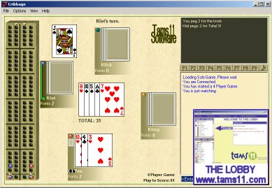 Click to view Tams11 Cribbage 2.0.8.14 screenshot