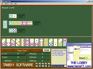 Click to view Tams11 Domino Toe 1.0.4.2 screenshot