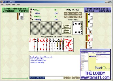 Click to view Tams11 Hand and Foot 1.0.10.9 screenshot