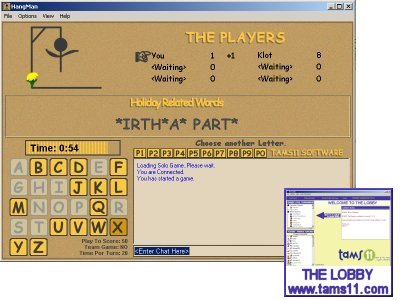 Online version of the popular game Hangman.