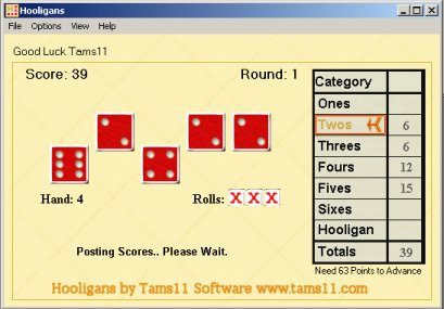 Click to view Tams11 Hooligans 2.0.0.0 screenshot