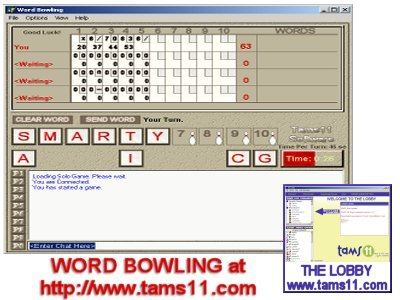 A Word game with a Bowling Theme