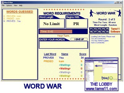 Tams11 WordWar screen shot